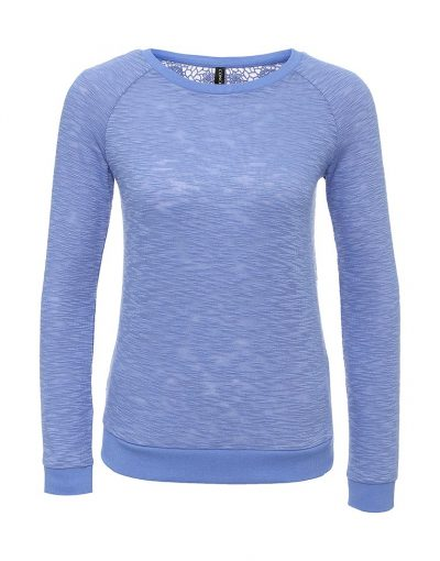 Jumper with a crew neck and with open back