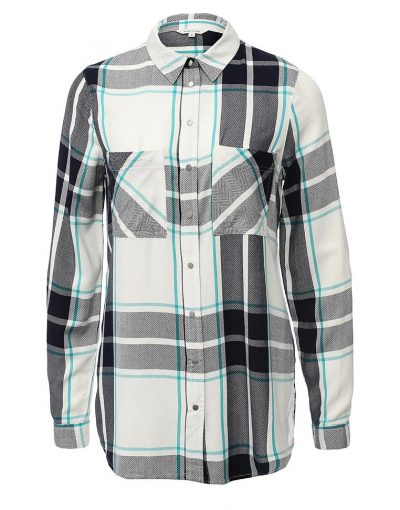 Boyfriend Check Shirt in Navy Check
