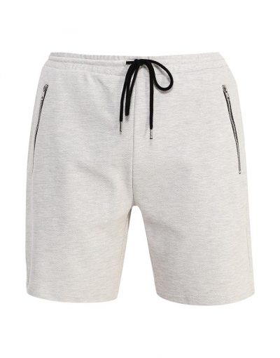Grey Shorts In Skinny Fit In Mid Length for Men